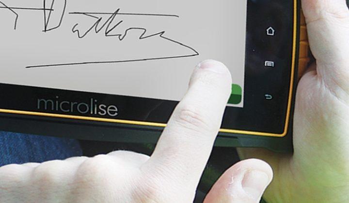 Signature sur écran